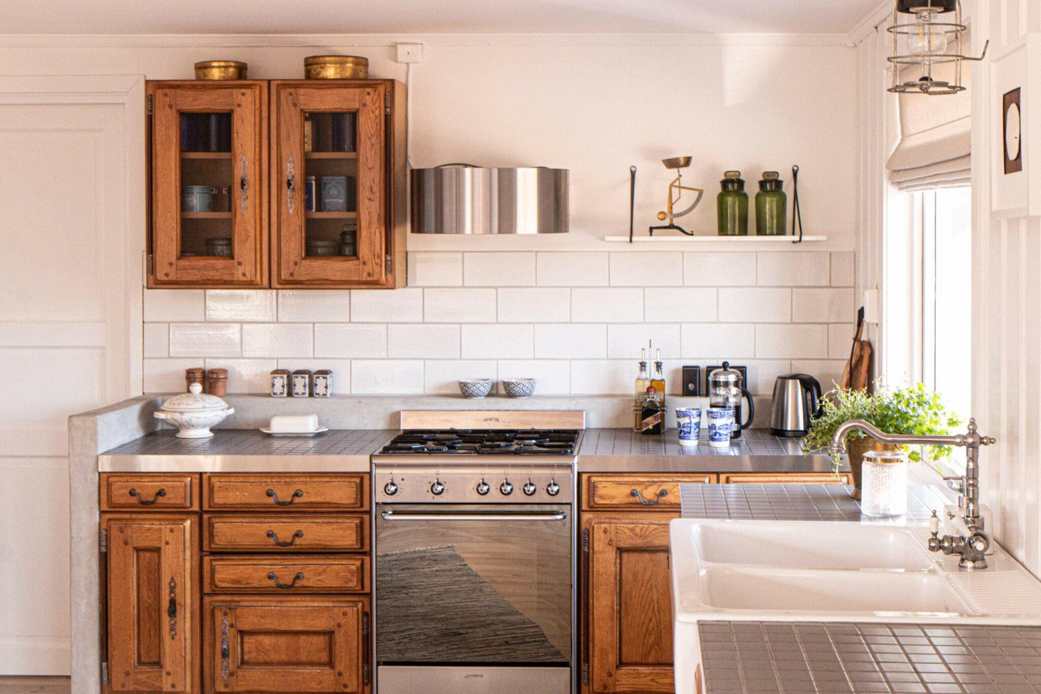 Flislagt kjøkkenbenk